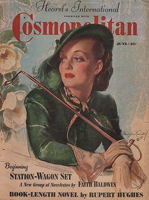 ORIG VINTAGE MAGAZINE COVER/ COSMOPOLITAN JUNE 1938Crandall (Illust.), Bradshaw, Illust. by: Bradshaw  Crandall - Product Image