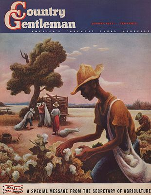 ORIG VINTAGE MAGAZINE COVER/ COUNTRY GENTLEMAN - AUGUST 1942Benton (Illust.), Thomas Hart, Illust. by: Thomas Hart   Benton - Product Image
