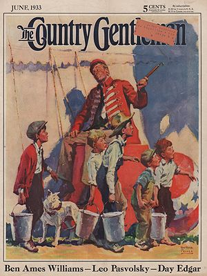 ORIG VINTAGE MAGAZINE COVER/ COUNTRY GENTLEMAN - JUNE 1933Prince (Illust.), William Meade, Illust. by: William Meade  Prince - Product Image