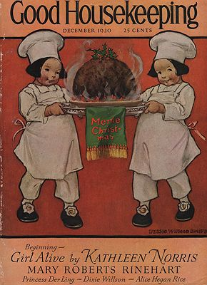 ORIG VINTAGE MAGAZINE COVER/ GOOD HOUSEKEEPING DECEMBER 1930illustrator- Jessie Wilcos  Smith - Product Image
