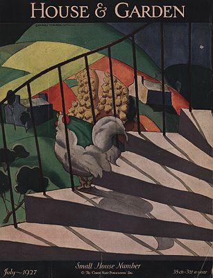 ORIG VINTAGE MAGAZINE COVER/ HOUSE & GARDEN JULY 1927Tomlin (Illust.), Bradley Walker, Illust. by: Bradley Walker  Tomlin - Product Image