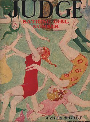ORIG VINTAGE MAGAZINE COVER/ JUDGE - JULY 31 1926illustrator- James Montgomery  Flagg - Product Image