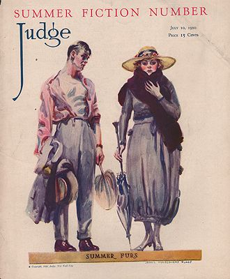 ORIG VINTAGE MAGAZINE COVER/  JUDGE - JULY 10 1920Flagg (Illust.), James Montgomery, Illust. by: James Montgomery   Flagg - Product Image
