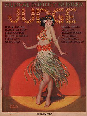 ORIG VINTAGE MAGAZINE COVER/ JUDGE - MARCH 15 1924Brown (Illust.), Sam, Illust. by: Sam  Brown - Product Image