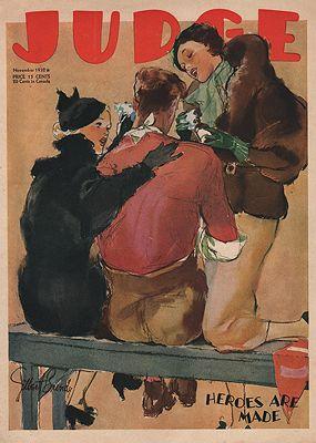 ORIG VINTAGE MAGAZINE COVER/ JUDGE - NOVEMBER 1932Bundy (Illust.), Gilbert, Illust. by: Gilbert  Bundy - Product Image
