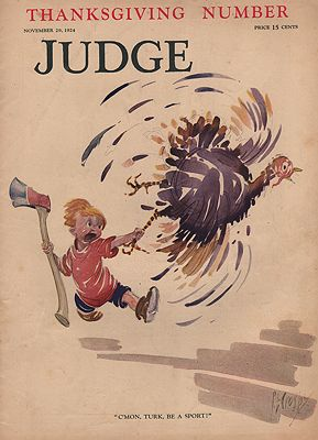 ORIG VINTAGE MAGAZINE COVER/ JUDGE - NOVEMBER 29 1924Crosby (Illust.), Percy, Illust. by: Percy  Crosby - Product Image