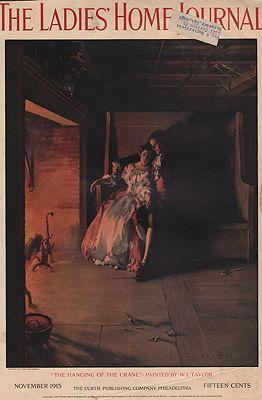 ORIG VINTAGE MAGAZINE COVER/ LADIES HOME JOURNAL - NOVEMBER 1915illustrator- W.L.  Taylor. - Product Image