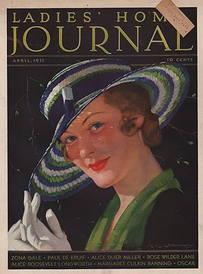ORIG VINTAGE MAGAZINE COVER/ LADIES HOME JOURNAL - APRIL 1933Chambers (Illust.), C.E., Illust. by: C.E.  Chambers - Product Image