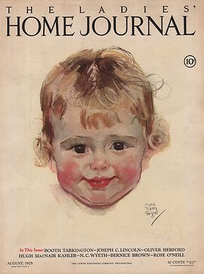 ORIG VINTAGE MAGAZINE COVER/ LADIES HOME JOURNAL - AUGUST 1925Fangel (Illust.), Maud Tousey, Illust. by: Maud Tousey  Fangel - Product Image