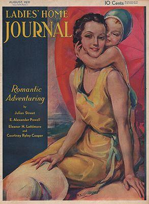 ORIG VINTAGE MAGAZINE COVER/ LADIES HOME JOURNAL - AUGUST 1931Erbit (Illust.), Jules, Illust. by: Jules  Erbit - Product Image