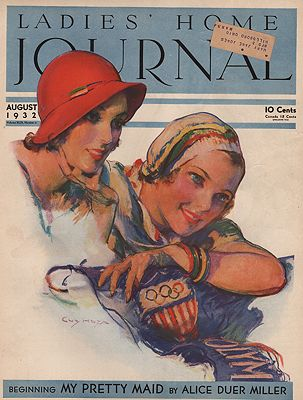 ORIG VINTAGE MAGAZINE COVER/ LADIES HOME JOURNAL - AUGUST 1932Hoff (Illust.), Guy, Illust. by: Guy  Hoff - Product Image