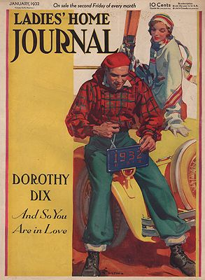 ORIG VINTAGE MAGAZINE COVER/ LADIES HOME JOURNAL - JANUARY 1932Jackson (Illust.), E. M., Illust. by: E.M.  Jackson - Product Image