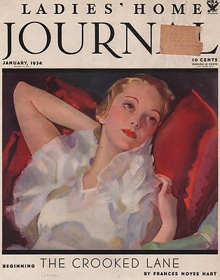 ORIG VINTAGE MAGAZINE COVER/ LADIES HOME JOURNAL - JANUARY 1934Spreter (Illust.), Roy, Illust. by: Roy  Spreter - Product Image