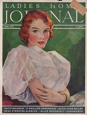 ORIG VINTAGE MAGAZINE COVER/ LADIES HOME JOURNAL - JUNE 1933Miller (Illust.), Hester, Illust. by: Hester  Miller - Product Image