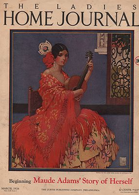 ORIG VINTAGE MAGAZINE COVER/ LADIES HOME JOURNAL - MARCH 1926Kay (Illust.), Gertrude, Illust. by: Gertrude  Kay - Product Image