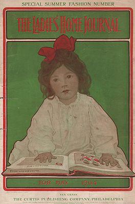 ORIG VINTAGE MAGAZINE COVER/  LADIES HOME JOURNAL - MAY 1904Smith (Illust.), Jessie Wilcox, Illust. by: Jessie Wilcox  Smith - Product Image