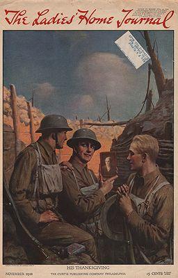 ORIG VINTAGE MAGAZINE COVER/ LADIES HOME JOURNAL - NOVEMBER 1918Brett (Illust.), Harold, Illust. by: Harold  Brett - Product Image