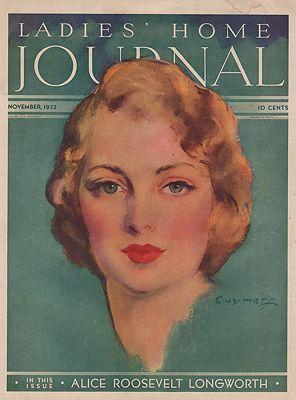 ORIG VINTAGE MAGAZINE COVER/ LADIES HOME JOURNAL - NOVEMBER 1932Hoff (Illust.), Guy, Illust. by: Guy   Hoff - Product Image