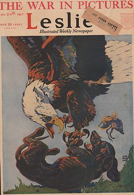 ORIG VINTAGE MAGAZINE COVER/ LESLIE - NOVEMBER 24 1917Hunt (Illust.), Lynn Bogue, Illust. by: Lynn Bogue  Hunt - Product Image