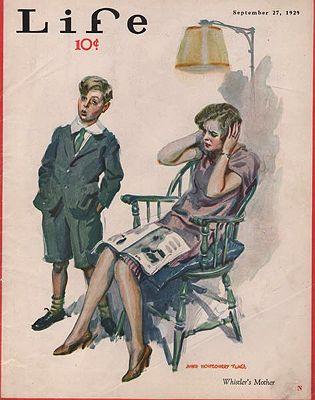 ORIG. VINTAGE MAGAZINE COVER/ LIFE - SEPTEMBER 27 1929illustrator- James Montgomery  Flagg - Product Image