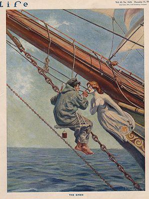 ORIG VINTAGE MAGAZINE COVER/ LIFE - DECEMBER 11 1913Fischer (Illust.), Anton Otto, Illust. by: Anton Otto  Fischer - Product Image