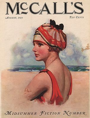 ORIG VINTAGE MAGAZINE COVER/ MCCALL'S - AUGUST 1925illustrator- Neysa  McMein - Product Image
