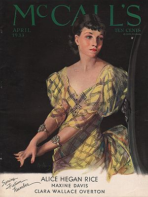 ORIG VINTAGE MAGAZINE COVER/ MCCALL'S - APRIL 1933McMein (Illust.), Neysa, Illust. by: Neysa  McMein - Product Image
