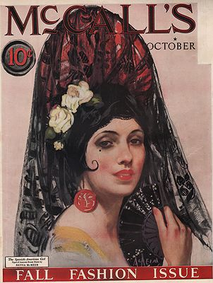 ORIG VINTAGE MAGAZINE COVER/ MCCALL'S - OCTOBER 1924McMein (Illust.), Neysa, Illust. by: Neysa  McMein - Product Image