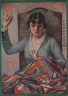 ORIG VINTAGE MAGAZINE COVER/ MCCLURE'S - FEBRUARY 1918illustrator- Neysa  McMein - Product Image