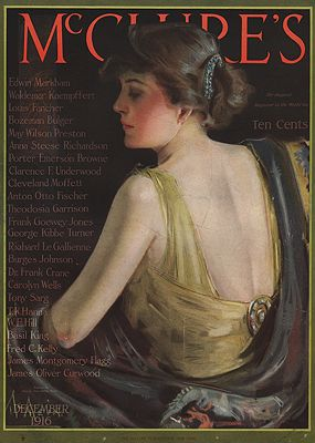 ORIG VINTAGE MAGAZINE COVER/ MCCLURE'S - DECEMBER 1916McMein (Illust.), Neysa, Illust. by: Neysa  McMein - Product Image