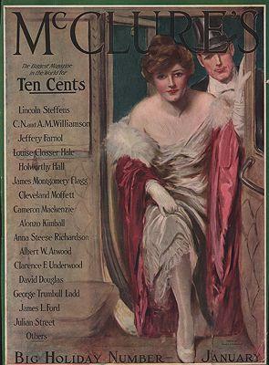 ORIG VINTAGE MAGAZINE COVER/ MCCLURE'S - JANUARY 1915Underwood (Illust.), Clarence, Illust. by: Clarence  Underwood - Product Image