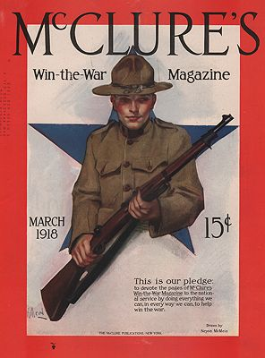 ORIG VINTAGE MAGAZINE COVER/ MCCLURE'S - MARCH 1918McMein (Illust.), Neysa, Illust. by: Neysa  McMein - Product Image
