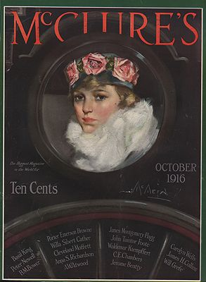 ORIG VINTAGE MAGAZINE COVER/ MCCLURE'S - OCTOBER 1916McMein (Illust.), Neysa, Illust. by: Neysa  McMein - Product Image