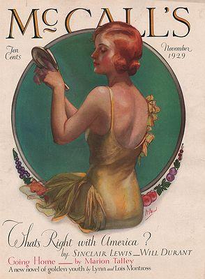 ORIG VINTAGE MAGAZINE COVER/ McCALL'S - NOVEMBER 1929illustrator- Neysa  McMein - Product Image