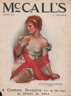 ORIG VINTAGE MAGAZINE COVER/ McCALL'S AUGUST 1927McMein (Illust.), Neysa, Illust. by: Neysa  McMein - Product Image