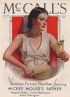 ORIG VINTAGE MAGAZINE COVER/ McCALL'S - AUGUST 1932McMein (Illust.), Neysa, Illust. by: Neysa  McMein - Product Image
