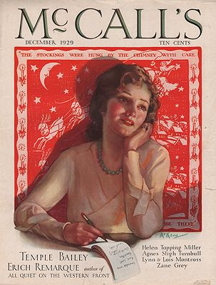 ORIG VINTAGE MAGAZINE COVER/ McCALL'S - DECEMBER 1929McMein (Illust.), Neysa, Illust. by: Neysa  McMein - Product Image