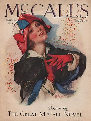 ORIG VINTAGE MAGAZINE COVER/ McCALL'S FEBRUARY 1928McMein (Illust.), Neysa - Product Image