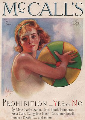 ORIG VINTAGE MAGAZINE COVER/ McCALL'S - JULY 1930McMein (Illust.), Neysa, Illust. by: Neysa  McMein - Product Image