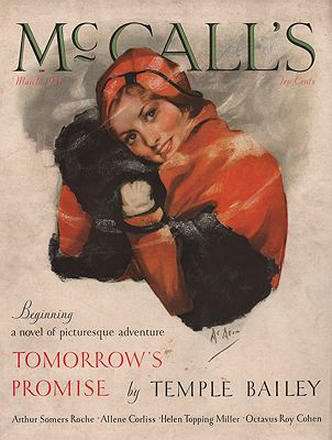ORIG VINTAGE MAGAZINE COVER/ McCALL'S MARCH 1931McMein (Illust.), Neysa, Illust. by: Neysa  McMein - Product Image