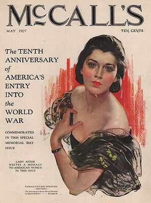 ORIG VINTAGE MAGAZINE COVER/ McCALL'S MAY 1927McMein (Illust.), Neysa - Product Image
