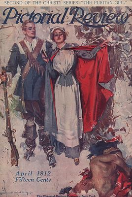 ORIG VINTAGE MAGAZINE COVER/ PICTORIAL REVIEW - APRIL 1912illustrator- Howard Chandler  Christy - Product Image