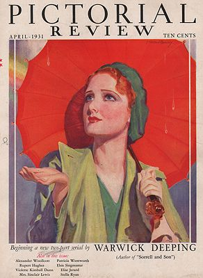 ORIG VINTAGE MAGAZINE COVER/ PICTORIAL REVIEW - APRIL 1931Barclay (Illust.), McClelland, Illust. by: McClelland  Barclay - Product Image