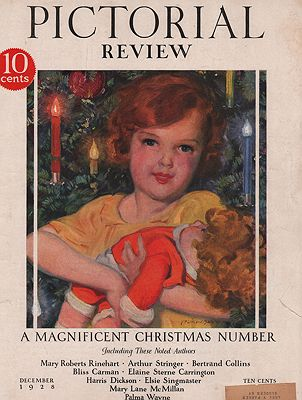 ORIG VINTAGE MAGAZINE COVER/ PICTORIAL REVIEW - DECEMBER 1928Barclay (Illust.), McClelland, Illust. by: McClelland  Barclay - Product Image