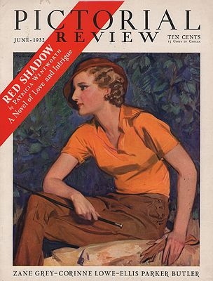 ORIG VINTAGE MAGAZINE COVER/ PICTORIAL REVIEW - JUNE 1932Barclay (Illust.), McClelland, Illust. by: McClelland  Barclay - Product Image