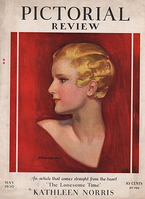 ORIG VINTAGE MAGAZINE COVER/ PICTORIAL REVIEW - MAY 1930Barclay (Illust.), McClelland - Product Image