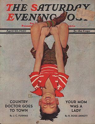 ORIG VINTAGE MAGAZINE COVER/ SATURDAY EVENING POST - APRIL 20 1940illustrator- Douglas  Crockwell - Product Image