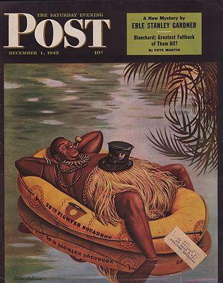 ORIG VINTAGE MAGAZINE COVER/ SATURDAY EVENING POST - DECEMBER 1 1945illustrator- Stevan  Dohanos - Product Image
