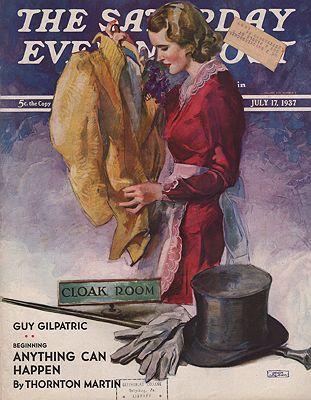 ORIG VINTAGE MAGAZINE COVER/ SATURDAY EVENING POST - JULY 17 1937illustrator- John  LaGatta - Product Image