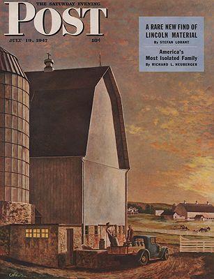 ORIG VINTAGE MAGAZINE COVER/ SATURDAY EVENING POST - JULY 19 1947illustrator- John  Atherton - Product Image